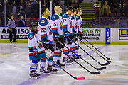 KELOWNA, CANADA - JANUARY 30: Pepsi Player of the game in the lineup at the Kelowna Rockets game on January 30, 2019 at Prospera Place in Kelowna, British Columbia, Canada. (Photo By Cindy Rogers/Nyasa Photography, *** Local Caption ***