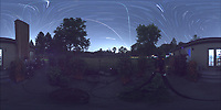Summertime Night Sky over New Jersey (360 Equirectangular Panorama). Composite of images (21:00-21:59) taken with a Ricoh Theta Z1 camera (ISO 400, dual 2.6 mm fisheye lens, f/2.1, 60 sec). With image alignment in Photoshop CC (scrips,statistics, maximum, align images)