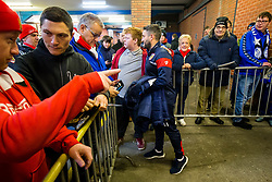 Bristol City Head Coach Lee Johnson greets fans on his arrival to the ground - Rogan/JMP - 18/11/2017 - Hillsborough Stadium - Sheffield, England - Sheffield Wednesday v Bristol City - Sky Bet Championship.