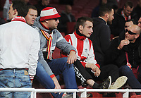Football - 2017 / 2018 Europa League - Group H: Arsenal vs. FC Koln<br /> <br /> Koln fans sit in the stadium after hearing the game has been delayed by one hour, at The Emirates.<br /> <br /> COLORSPORT/ANDREW COWIE