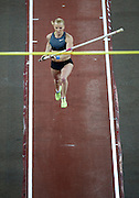 Anna Rogowska of Poland competes in women's pole vault during indoor athletics meeting Pedro's Cup 2013 at Luczniczka Hall in Bydgoszcz, Poland...Poland, Bydgoszcz, February 12, 2013..Picture also available in RAW (NEF) or TIFF format on special request...For editorial use only. Any commercial or promotional use requires permission...Photo by © Adam Nurkiewicz / Mediasport