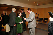 LADY FRANCES ARMSTRONG-JONES AND LORD MAURICE SAATCHI. After-drinks JOSEPHINE HART Poetry Hour. British Library. Euston Rd. London. 22 March 2006. ONE TIME USE ONLY - DO NOT ARCHIVE  © Copyright Photograph by Dafydd Jones 66 Stockwell Park Rd. London SW9 0DA Tel 020 7733 0108 www.dafjones.com
