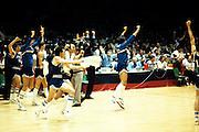 Europei Francia 1983 - Nantes: esultanza team italia, marzorati, meneghin