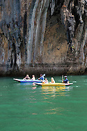 Ko Panak and Ko Hong are stunning hongs or collapsed cave systems, full of stalactites that are popular for sea kayaing and canoe trips.  Local Thais cultivate birdnests and oysters here.