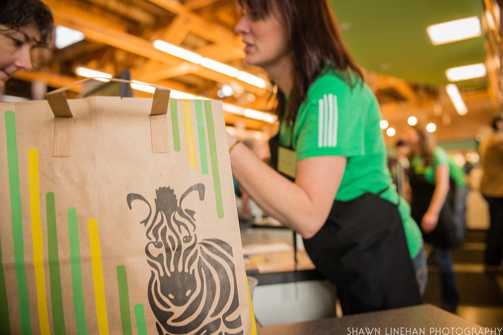 Opening day of Green Zebra Convenient Store in the Kenton neighborhood in Portland, Oregon