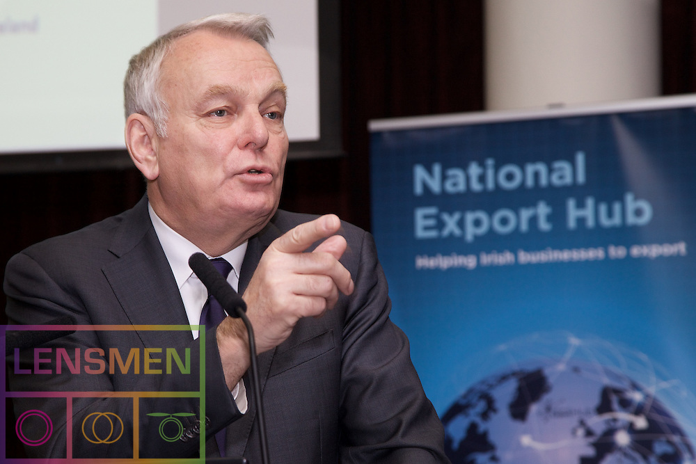 """The French Minister of Foreign Affairs briefs Irish SMEs on export opportunities<br /> <br />The French Minister of Foreign Affairs and International Development Jean-Marc Ayrault addresses SMEs at Irish Exporters Association National Export Hub seminar<br /> <br />Dublin, 22nd February 2017: The Irish Exporters Association's National Export Hub this morning held the first National Export Hub Seminar of 2017 at the Clarion Hotel, Liffey Valley, Dublin. The event, run by the National Export Hub, an initiative of the Irish Exporters Association and sponsors ABP Ireland, AIB, DHL Express, Euler Hermes and PwC in conjunction with Bord Bia and the Department of Foreign Affairs and Trade aims to educate and inform Irish SME's around the practicalities of exporting, assistance available and solutions they ought to consider to help them to grow their exports and in some cases, export for the first time. This morning's seminar focused particularly on the French market, existing collaboration between Ireland and France and the potential opportunities of trade and investment with France, particularly in light of the UK's decision to exit the EU. The event was headlined with a keynote address from Jean-Marc Ayrault, Minister of Foreign Affairs and International Development in France who highlighted French opportunities for Irish SME's and discussed the Irish-French bi-lateral trade relationship, Brexit and the future of Europe.<br /> <br />Event speakers:<br />•Jean-Marc Ayrault, Minister of Foreign Affairs and International Development, France<br />•Ray Lynch, Head of AIB Dublin<br />•Luke Redmond, Advisory Consultant, PwC<br />•Orlaith Sweeney, Export Manager, Keogh's Crisps<br />•Simon McKeever, Chief Executive, Irish Exporters Association<br />Jean-Marc Ayrault, Minister of Foreign Affairs and International Development, France speaking at the event said: """"France and Ireland have enjoyed long-lasting bilateral relations and are committed to developing them further. Through t"""