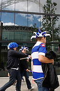 QPR supporters walk in to Wembley before the Sky Bet Championship Play Off final at Wembley Stadium, London<br /> Picture by Andrew Tobin/Focus Images Ltd +44 7710 761829<br /> 24/05/2014