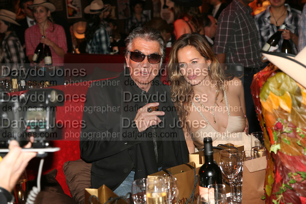 ROBERT CAVALLI AND JADE JAGGER, The Red Cross London Ball, The Room by the River: 99 Upper Ground, Waterloo, London, SE1. 21 November 2007. -DO NOT ARCHIVE-© Copyright Photograph by Dafydd Jones. 248 Clapham Rd. London SW9 0PZ. Tel 0207 820 0771. www.dafjones.com.