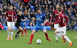 Andrew Hughes of Peterborough United in possession against Northampton Town - Mandatory by-line: Joe Dent/JMP - 02/04/2018 - FOOTBALL - ABAX Stadium - Peterborough, England - Peterborough United v Northampton Town - Sky Bet League One