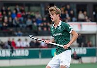 AMSTELVEEN -  Justen Blok (Rdam) tijdens  de hoofdklasse hockeywedstrijd Amsterdam-HC Rotterdam (7-1).    COPYRIGHT KOEN SUYK