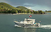 dive boat returns to port near Vieques, Puerto Rico