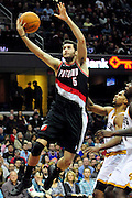 Feb. 5, 2011; Cleveland, OH, USA; Portland Trail Blazers shooting guard Rudy Fernandez (5) during the third quarter against the Cleveland Cavaliers at Quicken Loans Arena. The Trail Blazers beat the Cavaliers 111-105. Mandatory Credit: Jason Miller-US PRESSWIRE