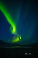 Aurora Borealis over Knik Glacier