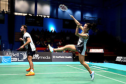 Emily Westwood of Bristol Jets hits a shot - Photo mandatory by-line: Robbie Stephenson/JMP - 07/11/2016 - BADMINTON - University of Derby - Derby, England - Team Derby v Bristol Jets - AJ Bell National Badminton League