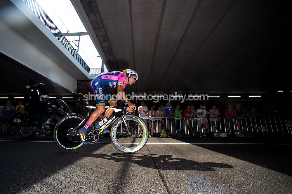 04.07.2015 Utrecht, Netherlands. Filippo Pozzato during the Individual Time Trial  2015 Tour De France Grand Depart.