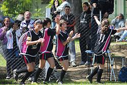 Lance da partida entre as equipes !1 de Maio x Duda B válida pela copa Coca-Cola, no Estadio Candido de Menezes, neste sabado 03/09/2011, em Porto Alegre. FOTO: Marcelo Campos/Preview.com
