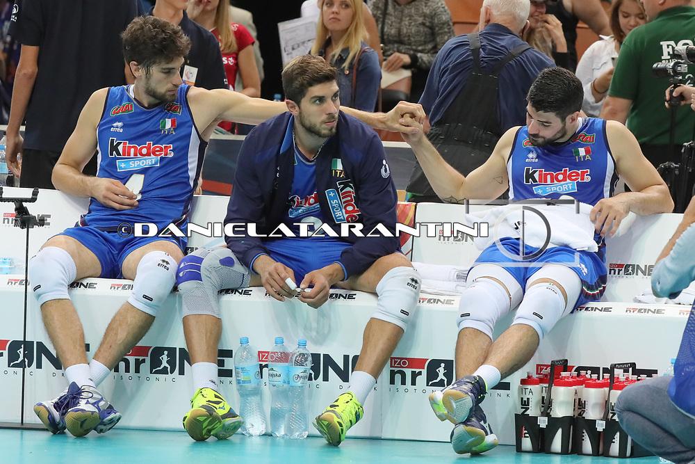 Le facce deluse Vettori Randazzo Lanza (BEL - ITA CEV Volleyball European Championship - Men 2017 Europei pallavolo - Quarterfinals)