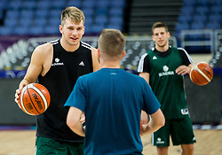 Luka Doncic of Slovenia at training session during of the FIBA EuroBasket 2017 at Hartwall Arena in Helsinki, Finland on September 4, 2017. Photo by Vid Ponikvar / Sportida