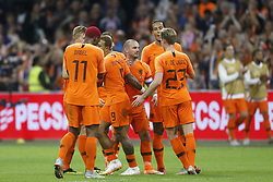Wesley Sneijder of Holland (C) during the International friendly match match between The Netherlands and Peru at the Johan Cruijff Arena on September 06, 2018 in Amsterdam, The Netherlands