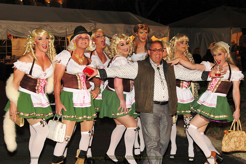 The Rubi Girls were stopped for pictures several times on their way to the beer during the Preview Party for the 41st annual Oktoberfest at the Dayton Art Institute, Friday, September 21, 2012.