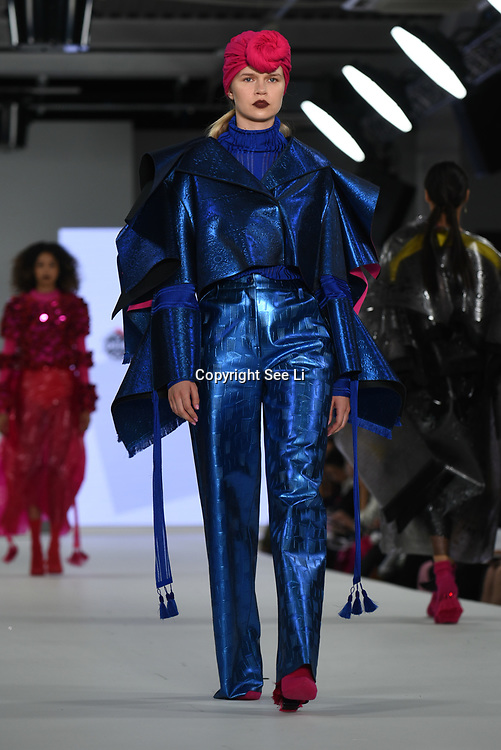 Designer Maddy Stringer the Best of Graduate Fashion Week showcases at the Graduate Fashion Week 2018, June 6 2018 at Truman Brewery, London, UK.