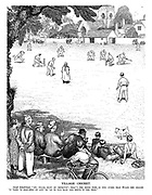"Village Cricket. Local inhabitant. ""Ay, trade must be improvin'; that's the third time in two overs the Evans the grocer 'as 'eard 'is shop-bell go and 'as 'ad to run back and serve in the shop."""