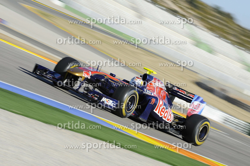 02.02.2011, Street Circuit, Jerez, ESP, Formel 1 Test 1 Valencia 2011,  im Bild Jaime Alguersuari (ESP), Scuderia Toro Rosso EXPA Pictures © 2011, PhotoCredit: EXPA/ nph/  Dieter Mathis       ****** out of GER / SWE / CRO  / BEL ******