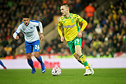 Norwich City midfielder Tom Trybull (19) on the ball during the The FA Cup 3rd round match between Norwich City and Portsmouth at Carrow Road, Norwich, England on 5 January 2019.