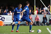AFC Wimbledon midfielder Anthony Wordsworth (40) with a shot on goal during the EFL Sky Bet League 1 match between AFC Wimbledon and Sunderland at the Cherry Red Records Stadium, Kingston, England on 25 August 2018.