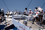 Evniki and Proteus sailing in the  Corfu Challenge, day five.