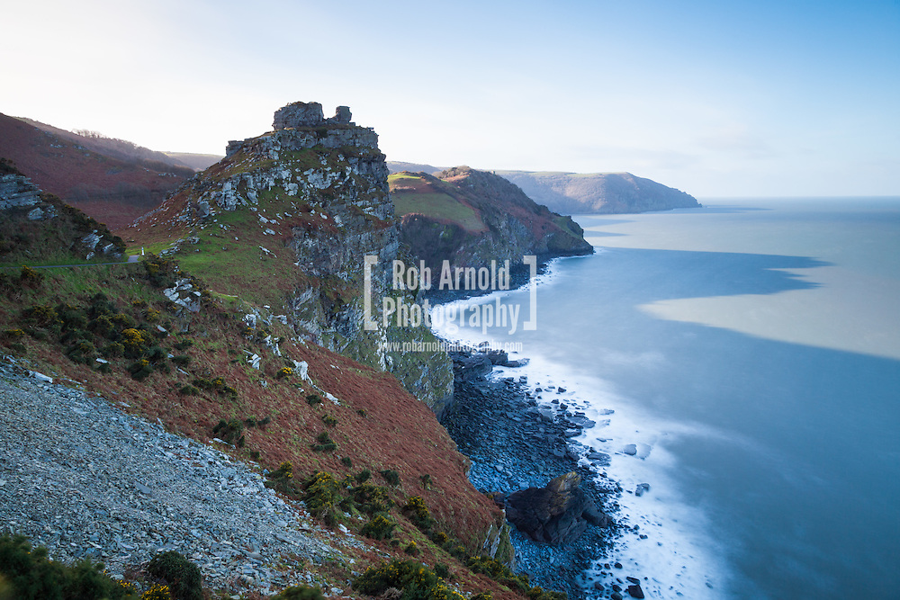 Castle Rock in the Valley of the Rocks, which lies on the North Devon Coast in Exmoor National Park.