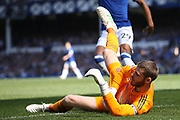 Manchester United goalkeeper David De Gea (1) in action during the Premier League match between Everton and Manchester United at Goodison Park, Liverpool, England on 21 April 2019.