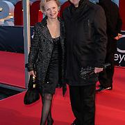 NLD/Amsterdam/20120404 - Opening filmmuseum Eye, Renee Soutendijk en partner Ted Lenssen