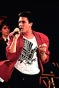 Simon Le Bon of Duran Duran performing live 1986
