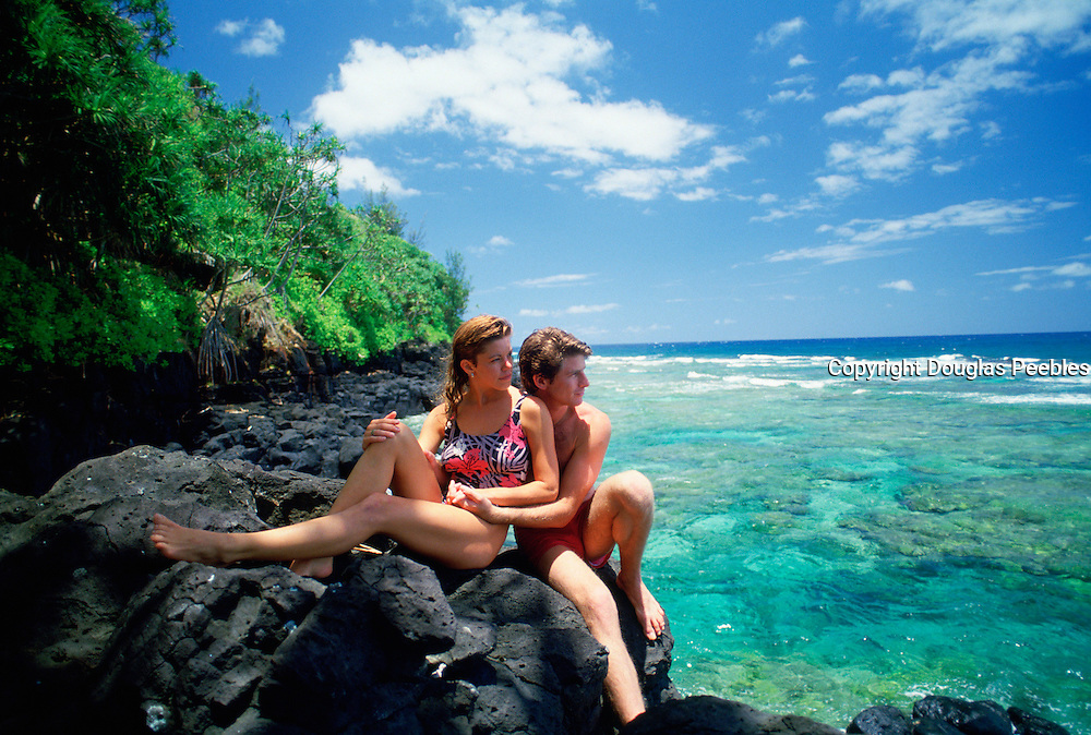 Couple at Beach, Kauai, Hawaii<br />