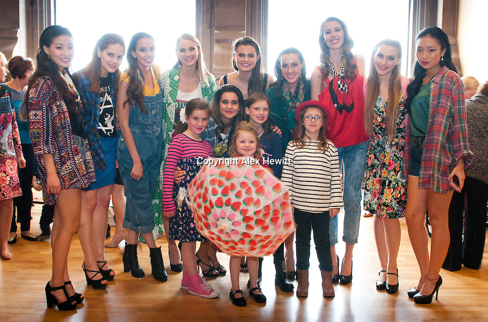 St Andrews University students backstage with the younger models at the Good 2 Give's Kaleidoscope fashion show hosted by their patron, Grant Stott with help from one of their Young Ambassadors, Samantha Bradley.<br /> Their models all have a reason to model for the show – they are all young cancer patients, their parents and siblings, or the professional staff who care for them.<br /> <br /> Photograph by Alex Hewitt<br /> alex.hewitt@gmail.com<br /> 07789 871540
