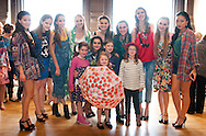 St Andrews University students backstage with the younger models at the Good 2 Give&rsquo;s Kaleidoscope fashion show hosted by their patron, Grant Stott with help from one of their Young Ambassadors, Samantha Bradley.<br /> Their models all have a reason to model for the show &ndash; they are all young cancer patients, their parents and siblings, or the professional staff who care for them.<br /> <br /> Photograph by Alex Hewitt<br /> alex.hewitt@gmail.com<br /> 07789 871540