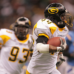 2008 November, 29: Grambling State linebacker Keefe Hall (44) runs back an interception during a 29-14 win by Grambling State over Southern University during the 35th annual State Farm Bayou Classic at the Louisiana Superdome in New Orleans, LA.  .