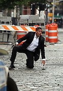 Sept. 3, 2014 - New York City, NY, United States - <br /> <br /> Person of Interest set<br /> <br /> Actor Jim Caviezel was on the set of the TV show 'Person of Interest' on September 3 2014 in New York City<br /> ©Exclusivepix