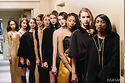 PROVIDENCE, RI - FEB 18: Models backstage prior to the J. Papa show during StyleWeek NorthEast on February 18, 2015 in Providence, Rhode Island. (Photo by Cat Laine)