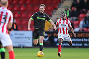 Forest Green Rovers Gavin Gunning(16) runs forward during the EFL Sky Bet League 2 match between Cheltenham Town and Forest Green Rovers at Jonny Rocks Stadium, Cheltenham, England on 29 December 2018.