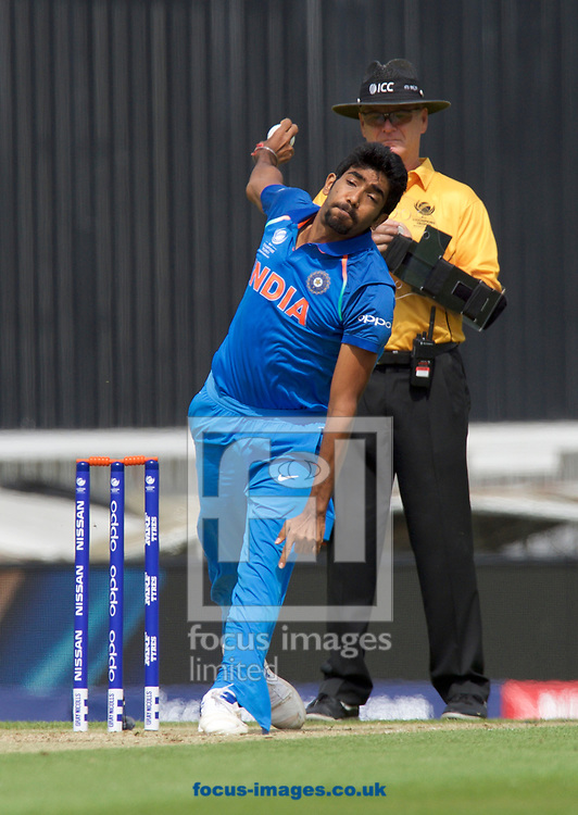 Bowler Jasprit Bumrah of India during the 2017 ICC Champions Trophy warm up match at the Kia Oval, London<br /> Picture by Alan Stanford/Focus Images Ltd +44 7915 056117<br /> 28/05/2017
