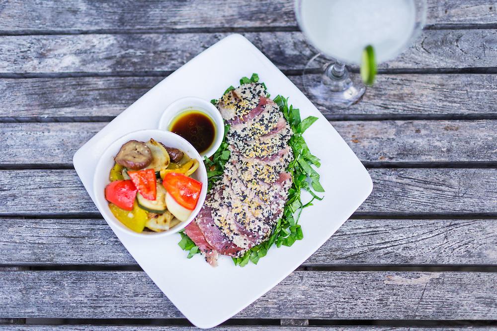 Sesame Crusted Tuna with Margarita Classic.