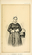 Portrait of a Brabant milkmaid in traditional clothes from Cattle and dairy farming. Published 1887 by Govt. Print. Off. in Washington. United States. Bureau of Foreign Commerce (1854-1903)