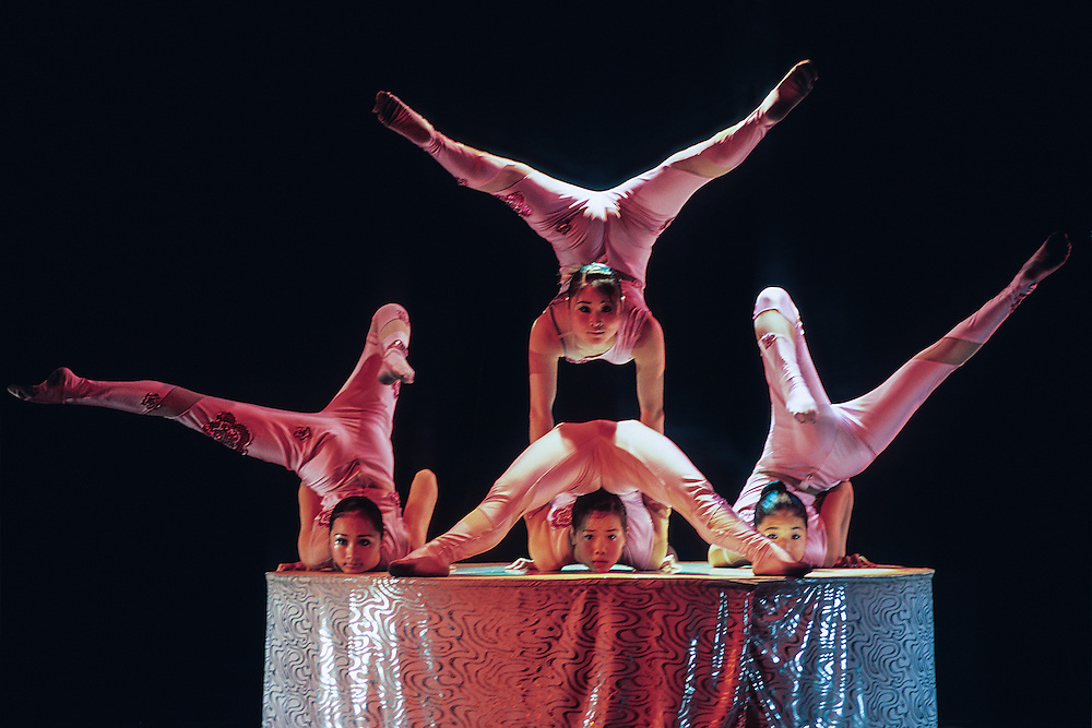 The world famous Shanghai acrobats contort themselves into unbelievable shapes.