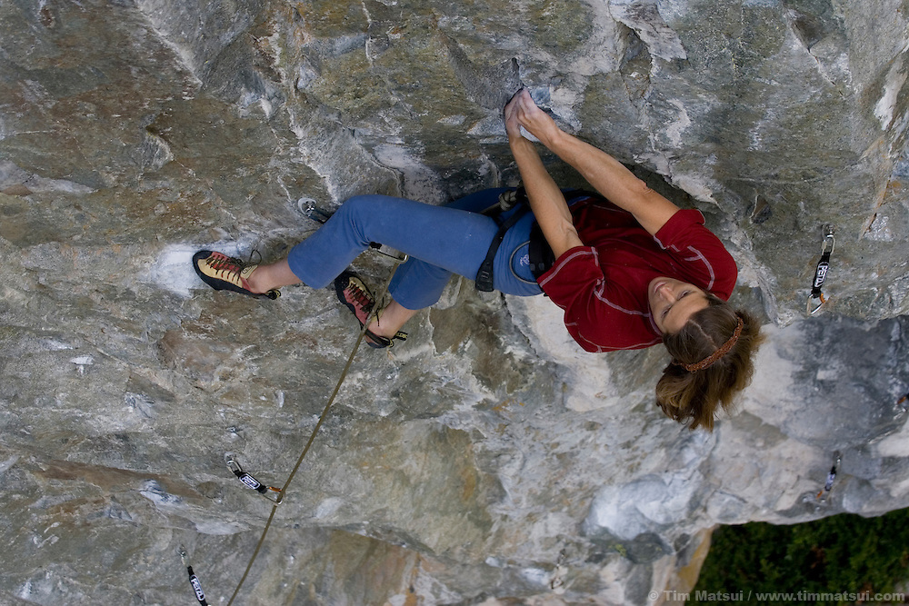 Competition climbing athletes from around the world at the Petzl Squamish RocTrip in Squamish, British Columbia, Canada on June 25, 2005.