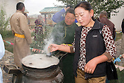 Open air cook house, Erdene Zuu, Mongolia
