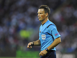 Referee MArk Clattenburg - Photo mandatory by-line: Joe Meredith/JMP - Mobile: 07966 386802 12/08/2014 - SPORT - FOOTBALL - Cardiff - Cardiff City Stadium - Real Madrid v Sevilla - UEFA Super Cup