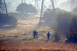 JOHANNESBURG, SOUTH AFRICA - MAY 10: A general view of people exercising in Randburg during lockdown level 4 on May 10, 2020 in Johannesburg, South Africa. According to media reports, during lockdown level 4 people are allowed to exercise. Guidelines allow for cycling, running and walking as examples and must be within a 5km radius of their residences between 6:00 am – 9:00 am. (Photo by Dino Lloyd)