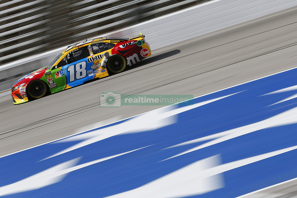 November 3, 2018 - Ft. Worth, Texas, United States of America - Kyle Busch (18) takes to the track to practice for the AAA Texas 500 at Texas Motor Speedway in Ft. Worth, Texas. (Credit Image: © Justin R. Noe Asp Inc/ASP via ZUMA Wire)